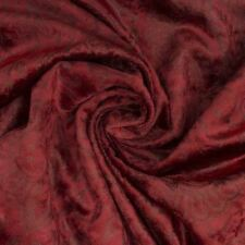 Annapolis Luxury Velour Crushed Red Velvet Curtain Fabric Cushion Upholstery