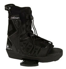 2009 LIQUID FORCE WATSON OT BLACK MENS WAKEBOARD OPEN-TOE BINDINGS NEW $379