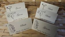 24 x ivory  wedding table place cards with a choice of 3 motif's
