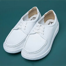 New Women Work Shoes Round Toe Simple Leisure Trainers Comfy Air Cushion Shoes