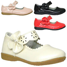 Girls Ballet Flats Mary Jane Scalloped Accent Casual Patent Shoes Red