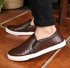 Korean Casual Mens Slip On Loafers Shoes Low Heels Shoes Round Toe Shoes US 2017