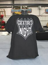 "TNA Jeff Hardy ""Creatures of the Night"" B/W on front T-Shirt, Impact Hardys"