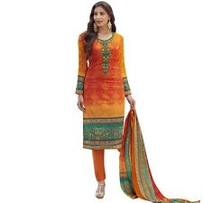 Readymade Cotton Printed Sober Embroidery Salwar Kameez Suit India-Sadhna-2-9006