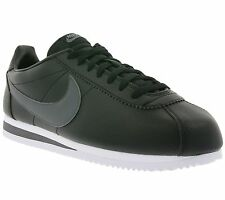 NEW NIKE Classic Cortez Leather Shoes Men's Sneakers Black 749571 011 SALE