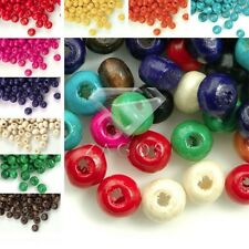 30g(800pcs Approx) Wooden Round Spacer Wood Beads Dyed Findings 3x4mm Wholesale