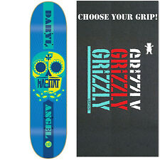 HABITAT Skateboard Deck SUGAR SKULL ANGEL 7.87 with GRIZZLY GRIPTAPE