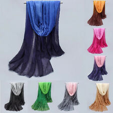 Summer Lady Gradient Color Long Wrap Women's Shawl Pashmina Stole Scarf Scarves