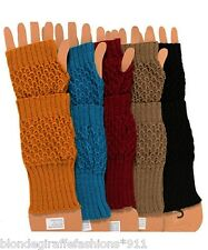 Fingerless Acrylic Sweater Knit Gloves/Arm Warmers OS