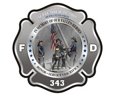 343 Firefighter Memorial Decal WTC Never Forget 9/11 Vinyl Window Sticker TCS