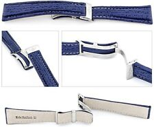 Real Shark Watch band compatible Breitling Folding clasp blue 0 13/16in