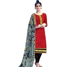 Ready to Wear Cotton Embroidered Salwar Kameez Rich Dupatta -Aditi-2602