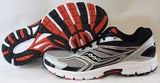 NEW Mens SAUCONY Grid Cohesion 9 Black Silver White Red Sneakers Shoes NO BOX
