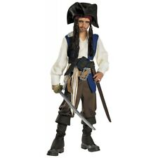 Dlx Captain Jack Sparrow Pirates of the Caribbean Kids Disney Halloween Costume