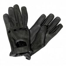 Black Soft Leather Gloves Unisex Driving Motorcycle Biker ATV Riding Vented