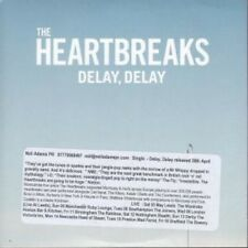 HEARTBREAKS Delay, Delay CD UK Nusic 2012 1 Track Promo With Info Stickered