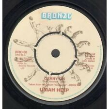 "URIAH HEEP Carry On 7"" VINYL UK Bronze 1980 B/W Been Hurt (Bro88)"