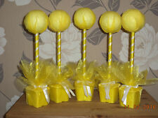 5 x yellow hand crafted sweet trees birthdays partys weddings