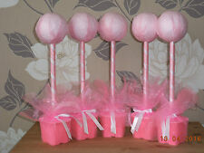 5 x  pink hand crafted sweet tree kits weddings birthday partys