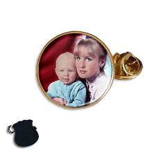 PERSONALISED CUSTOM YOUR FAMILY, CHILD PHOTO LAPEL PIN BADGE GIFT