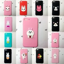 Silicone Cartoon Animal Cony Bunny Rabbit Dog Cat Phone Cases Cover for iPhone
