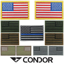 """Condor #230 Hook-N-Loop Tactical 2"""" x 3"""" US United States Flag Badge USA Patch"""