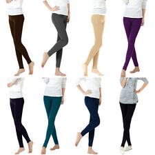 Bamboo Carbon Fiber Leggings Double Thermal Warm Footless Pants Hosiery
