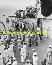 USS Missouri BB-63 Photo USN Military WW2 Surrender 1945 Black n White BB 63