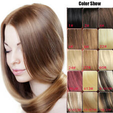 """Clip In Remy Real 100% Human Hair Extensions Full Head 70g 15Colors 7pcs/set 15"""""""