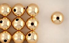 14K Gold Filled 12mm Seamless Round Spacer Beads, Choice of Lot Size & Price