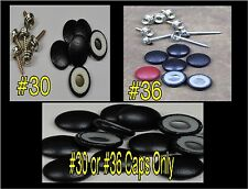 """25-DURA-SNAP UPHOLSTERY BUTTONS #30-#36 WITH 3/4"""" -1 1/2"""" SCREW STUDS-ANY COLOR"""