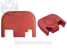 Fits Glock 17 19 21 22 23 27 30 34 36 41 Slide Plate Red With Lasered Images