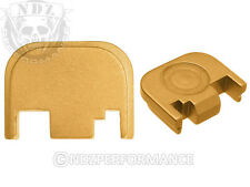 Fits Glock 17 19 21 22 23 27 30 34 36 41 Slide Plate Gold With Lasered Images