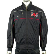 Mens Ben Sherman Union Jack logo Bomber Jacket Racer Mod Indie Hooded Coat S-XXL