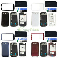 Full Housing Case + Screen Glass Lens + Tools For Samsung Galaxy S3 SIII i9300