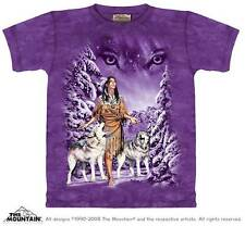 "WOLF MAIDEN ""EYES"" ADULT T-SHIRT THE MOUNTAIN NATIVE AMERICAN"