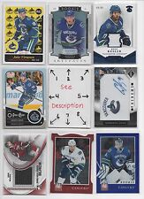 Vancouver Canucks BLOWOUT Lot #2 - Serial #'d - Rookies - Jersey - Auto - U-PICK