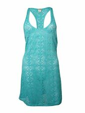 Roxy Women's Racerback Eyelet Diamond Tank Coverup Dress