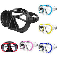 Silicone Seal Snorkel Scuba Tempered Glass Lens Mask Diving Equipment Utility