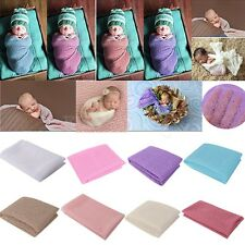 Newborn Baby Boy Girl Knit Lace Wrap Infant Photography Photo Props Blanket Rug