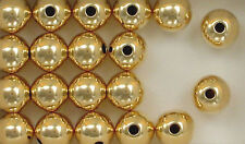14K Gold Filled 10mm Seamless Round Spacer Beads, Choice of Lot Size & Price