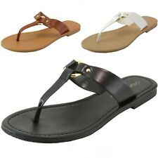 City Classified Womens T-Strap Flat Sandals Thong Flip Flops Casual Summer Shoes