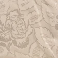 Damask Floral Print Table Cloth with Scallop Edge Square Rectangular Round Oval
