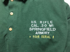 PERSONALIZED M1 Garand Polo Shirt  Embroidered! WWII Springfield Armory