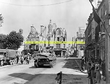 Army Sherman Tank WW2 France Normandy Black n White Photo Military  1944 Troops