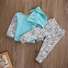 Newborn Baby Boys Casual Clothes T-shirt Top +Long Pant Outfits Sets 0-24 Months