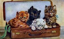 Four Little Travelers ~ Cats, Kittens, Mable Gear ~ Cross Stitch Pattern