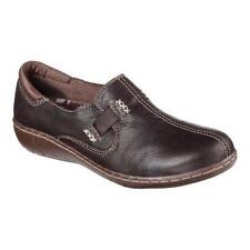 Women's SKECHERS Relaxed WASHINGTON 48760 Brown Leather Slip On Casual Shoes NEW