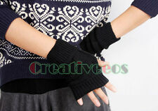 Fashion Knit Fingerless Winter Warmer Arm Unisex Gloves Mittens short Gloves New