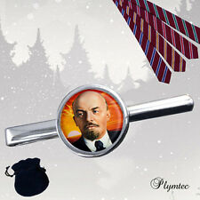 LENIN SOVIET RUSSIAN COMMUNIST TIE SLIDE / TIE SLIDE & MEN'S CUFFLINKS SET GIFT